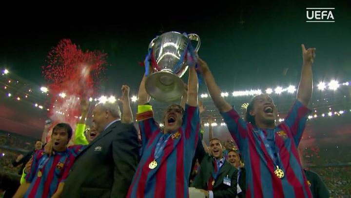 Se cumplen 15 años de la Copa de Europa que el Barça ganó ante el Arsenal en París