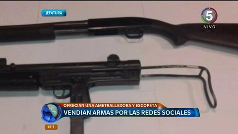 Detuvieron a una pareja por ofrecer para la venta armas de fuego en Facebook