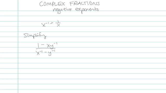 Simplifying Complex Fractions - Problem 6