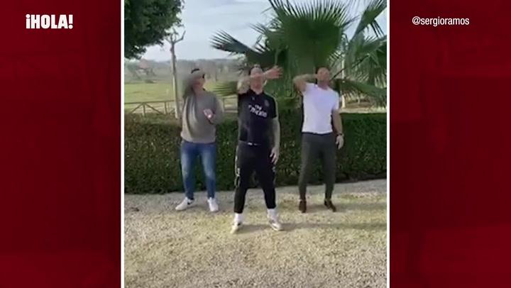 El divertido baile viral con el que Sergio Ramos despide el año