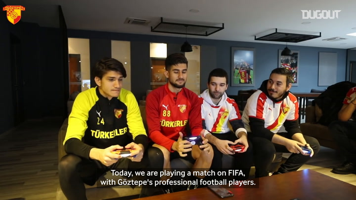 Goztepe players take on e-sports players on FIFA 20