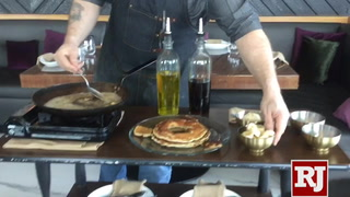 Bananas Foster Pancakes go up in flames at The Stove near Las Vegas