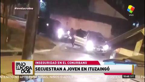 Violento secuestro de un joven en ituzaingó
