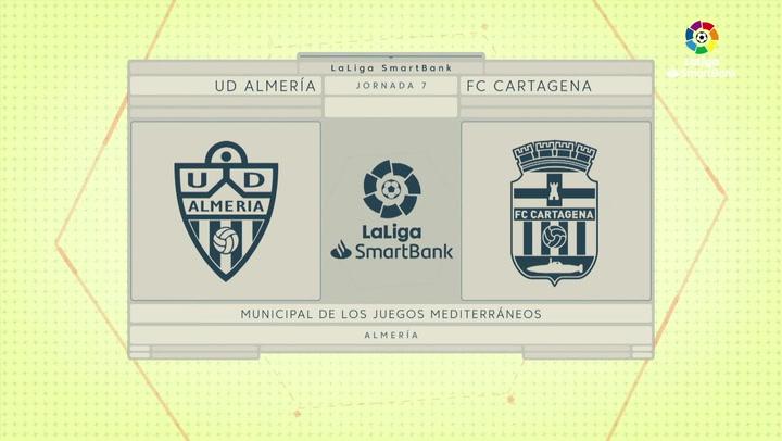 LaLiga SmartBank (J7): Almería 1-1 Cartagena