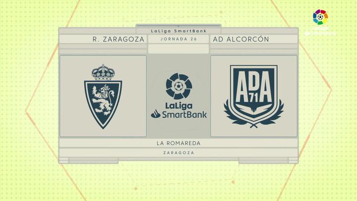 LaLiga SmartBank (J26): Resumen y gol del Zaragoza 0-1 Alcorcón