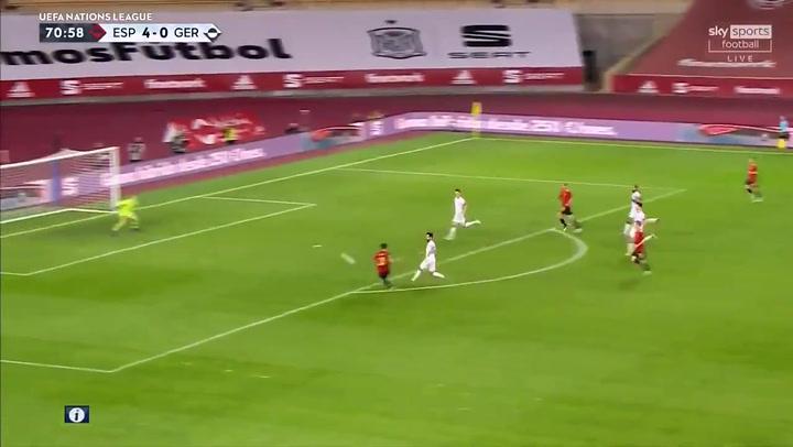 España-Alemania 5-0. Gol de Ferran Torres