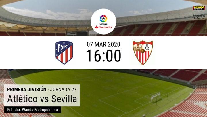 Atlético de Madrid – Sevilla: La estadística de la previa