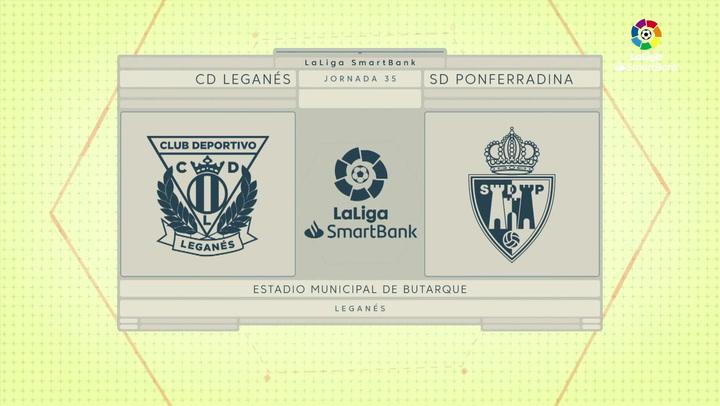 LaLiga SmartBank (J35): Resumen y goles del Leganés 1-1 Ponferradina