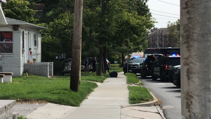 Columbia police presence near College Ave, Rogers St