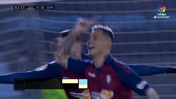 Gol de Chimy Ávila (1-1) en el Celta 1-1 Osasuna