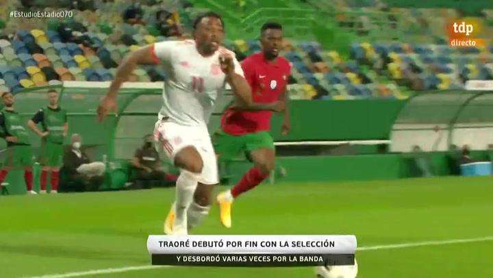 Adama debuta con la selección ante Portugal