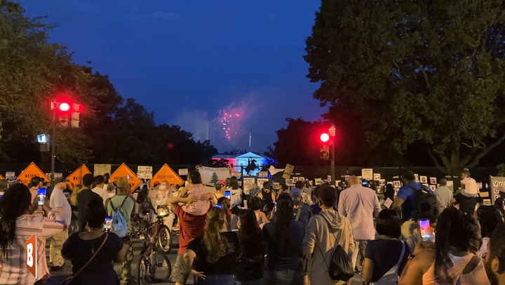 WH Protester Chanting 'F*ck Yo Fireworks' Ends Up Enjoying 'Free Show'