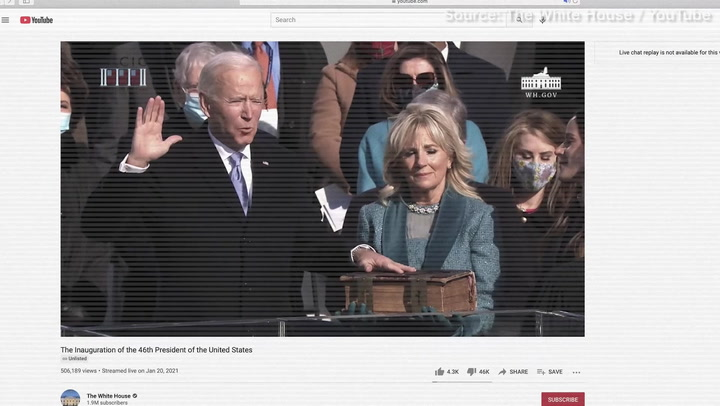 Most Popular President Ever...? The Inauguration of Joseph Robinette Biden, Jr. Gets Ratioed on YouTube