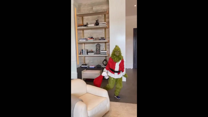 Kylie Jenner gets a visit from The Grinch