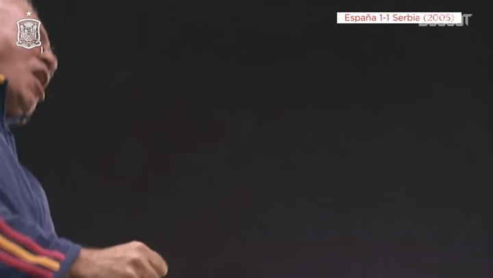 El golazo de cabeza de Raúl ante Serbia