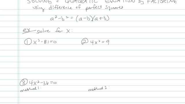 Solving Quadratic Equations by Factoring - Problem 7