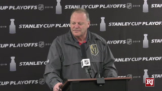 Coach Gallant Speaks to media about game 5 against the Sharks – VIDEO