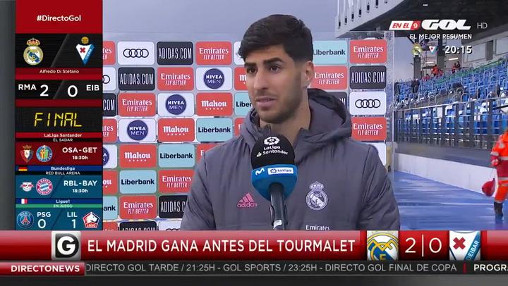 """Marco Asensio: """"Teníamos que ganar para coger buenas sensaciones"""""""