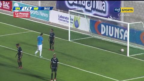 Franco Güity anota el 2-0 de la UPN ante Honduras Progreso