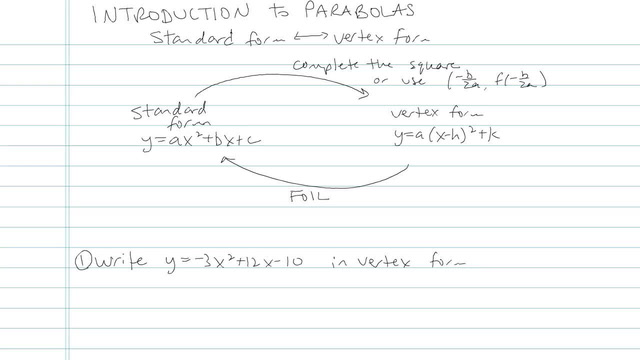 Introduction to Parabolas - Problem 8