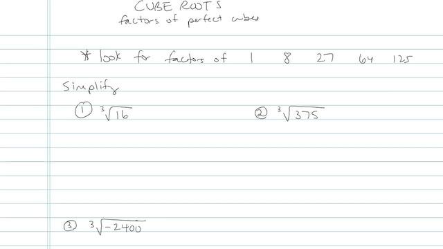 Cube Roots - Problem 4
