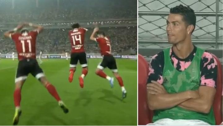 """Celebran en la cara de Cristiano Ronaldo con su típico """"suuuu!"""""""