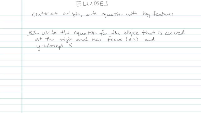 The Ellipse - Problem 8