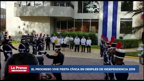El Progreso vive fiesta cívica en desfiles de Independencia 2019