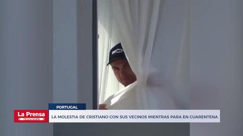 Video: La molestia de Cristiano Ronaldo con sus vecinos mientras pasa la cuarentena