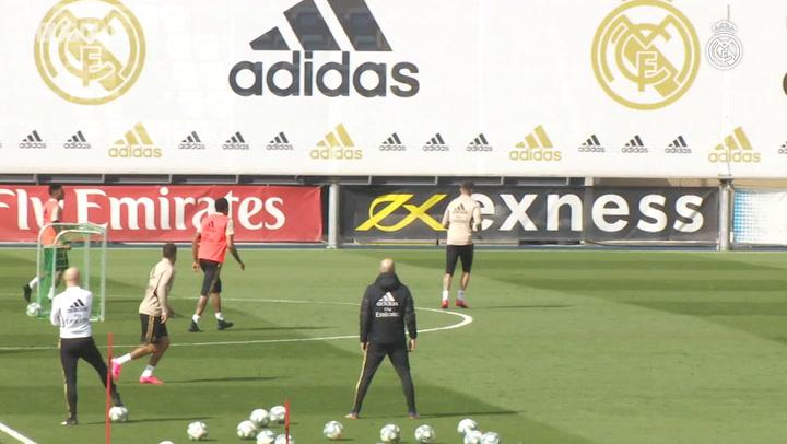 Real Madrid begin preparations for Éibar clash