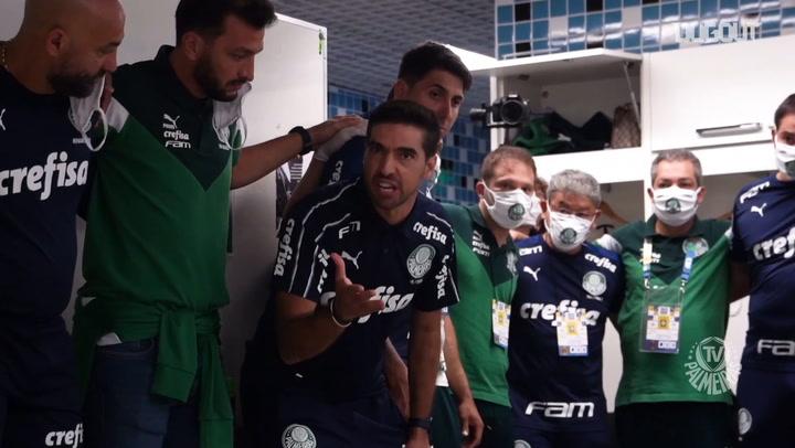 Discurso de Abel Ferreira no vestiário do Palmeiras na Arena do Grêmio
