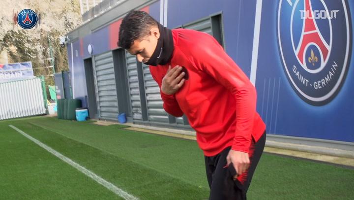 PSG's final training session before facing Man Utd