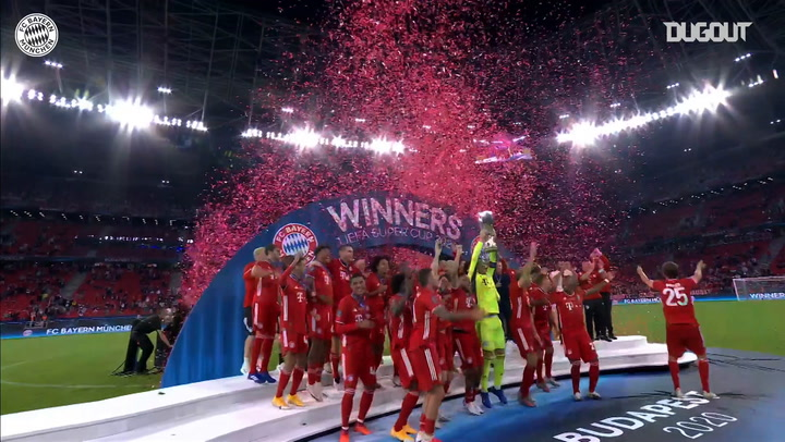 FC Bayern lift the 2020 European Super Cup