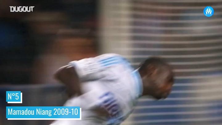 Olympique de Marseille's top five goals vs Montpellier