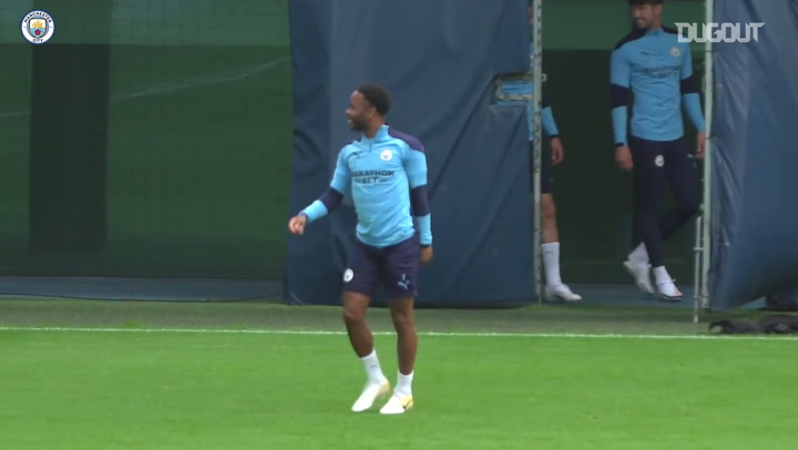 City in training before Real Madrid showdown
