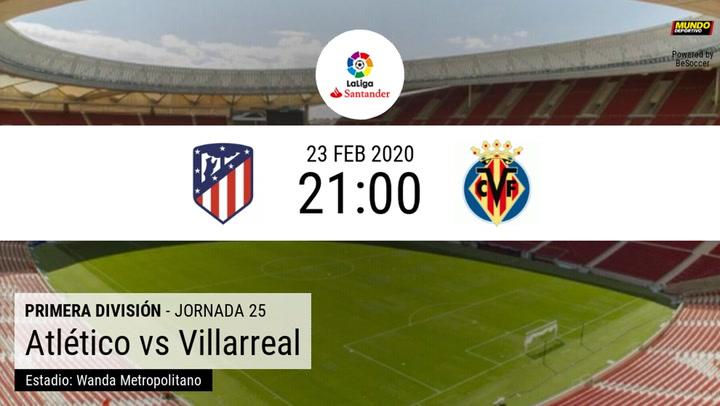 Atlético de Madrid - Villarreal: La estadística de la previa