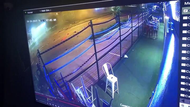 El accidente del boxeador Errol Spence Jr visto desde una cámara de seguridad