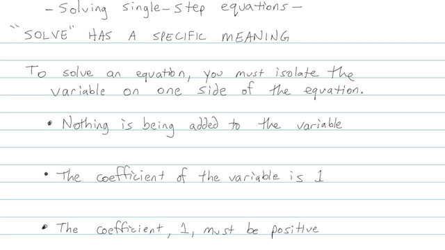 Solving Single-step Equations - Problem 5