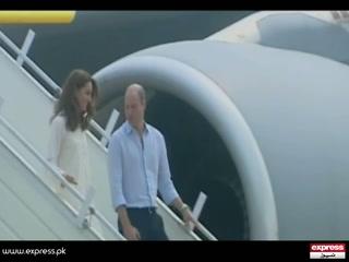 برطانوی شہزادہ ولیم اورشہزادی کیٹ مڈلٹن پاکستان کے دورے کے چوتھے روز لاہور پہنچ گئے