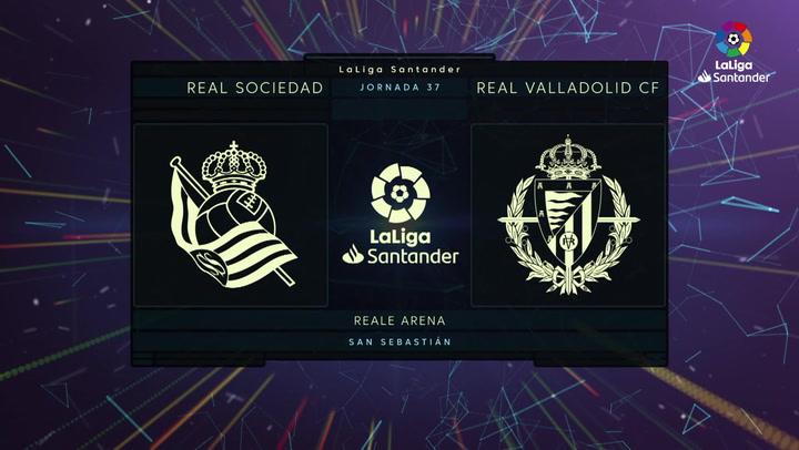 LaLiga Santander (J37): Resumen y goles del Real Sociedad 4-1 Valladolid