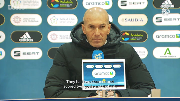 Zinedine Zidane: 'We tried hard, but we couldn't find an equaliser'