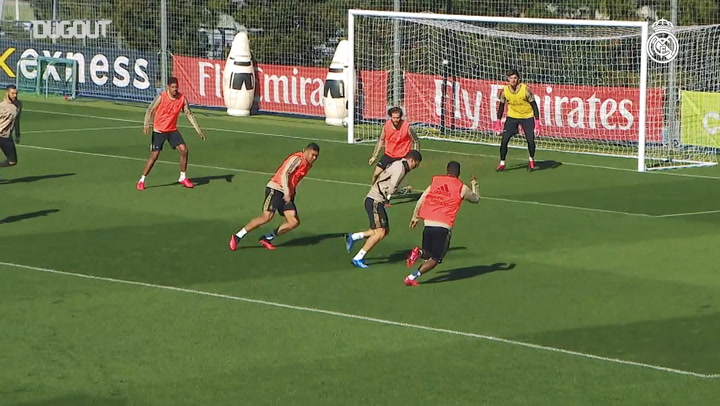 Real Madrid's final training session ahead of trip to Levante