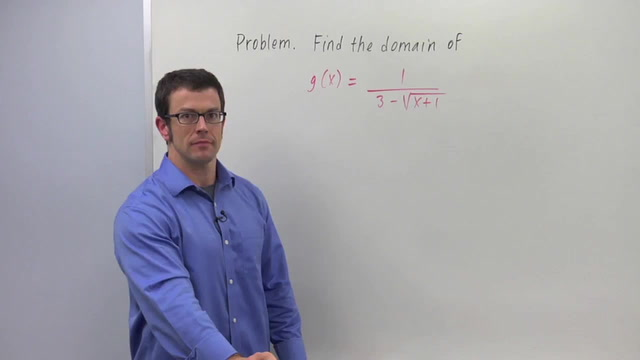 Finding the Domain of a Function - Problem 2