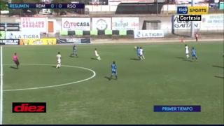 Real Sociedad está empatando ante Real de Minas en un juego con sabor a descenso en Danlí
