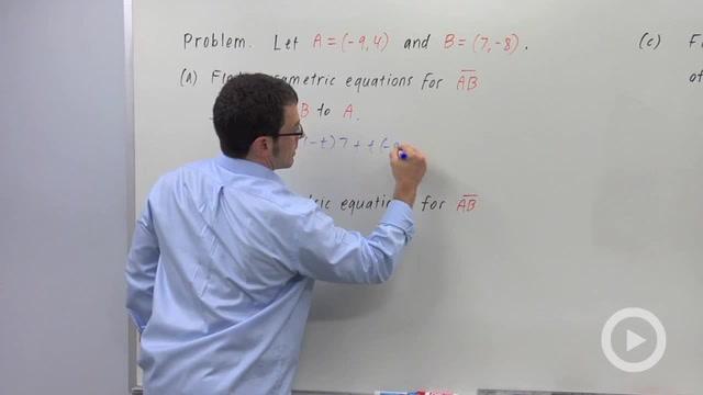 Parametrizing a Line Segment - Problem 2