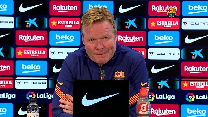 Rueda de prensa de Koeman previa al partido contra el Sevilla