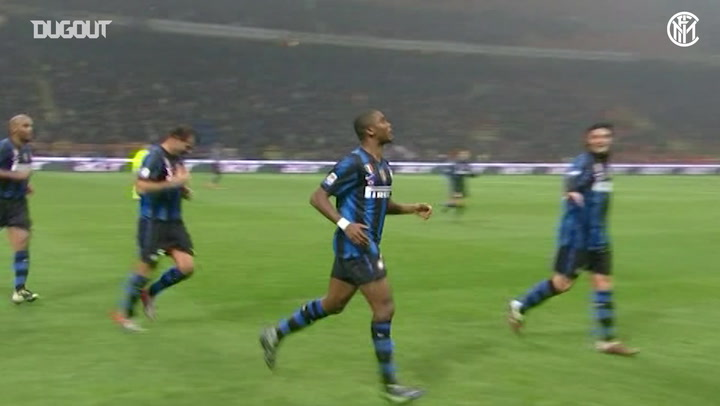 Eto'o nets a double as Inter beat Bologna