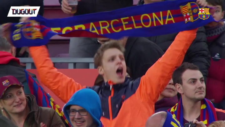 TFW when the Camp Nou witnesses a Messi golazo!