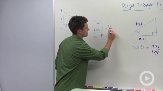 Trigonometric Ratios: Cosine - Problem 1