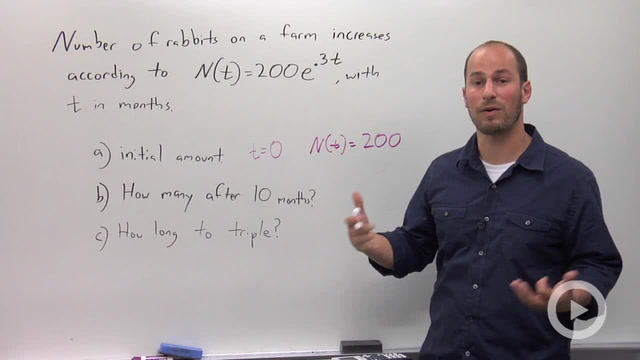 Exponential Growth and Decay - Problem 3